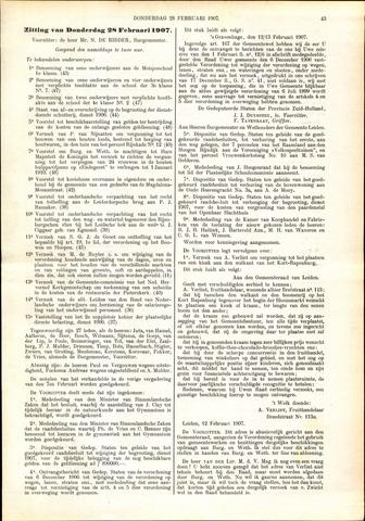 Handelingen van de Raad 1907-02-28