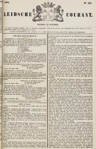 Leydse Courant 1884-10-31