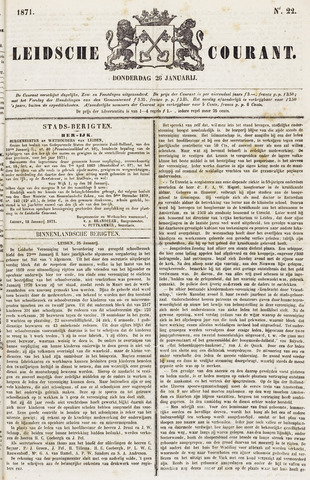 Leydse Courant 1871-01-26