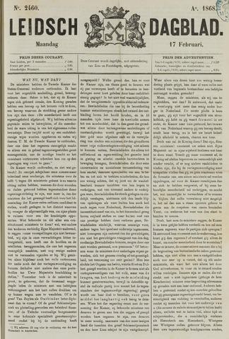 Leidsch Dagblad 1868-02-17