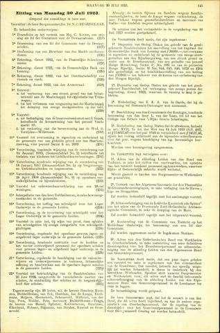 Handelingen van de Raad 1923-07-30