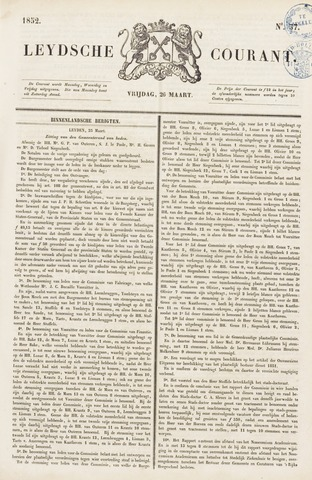 Leydse Courant 1852-03-26