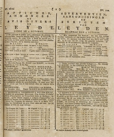 Leydse Courant 1812-10-05