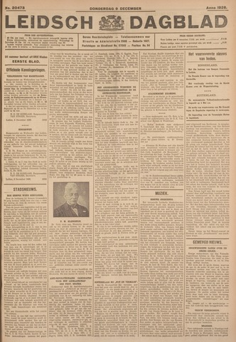 Leidsch Dagblad 1926-12-09