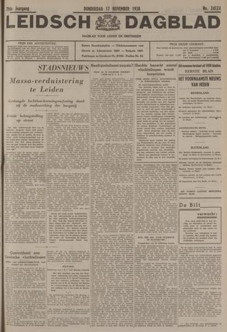 Leidsch Dagblad 1938-11-17