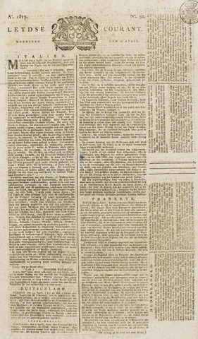 Leydse Courant 1815-04-26