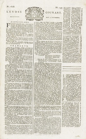 Leydse Courant 1818-11-30