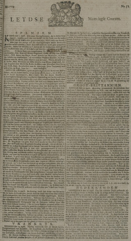 Leydse Courant 1729-05-02