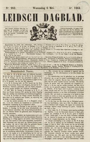 Leidsch Dagblad 1863-05-06