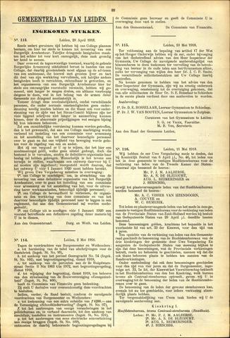 Handelingen van de Raad 1918-04-29