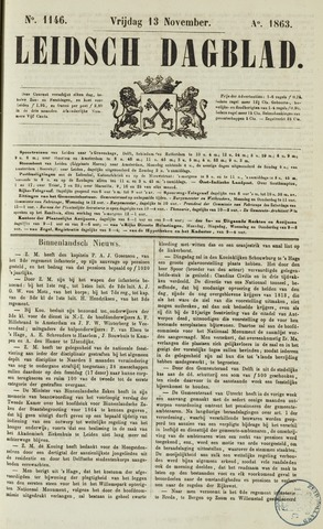 Leidsch Dagblad 1863-11-13