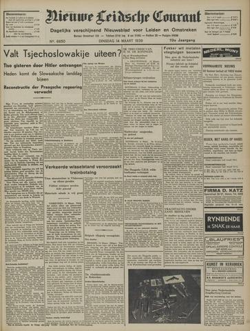 Nieuwe Leidsche Courant 1939-03-14