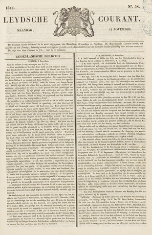 Leydse Courant 1844-11-11