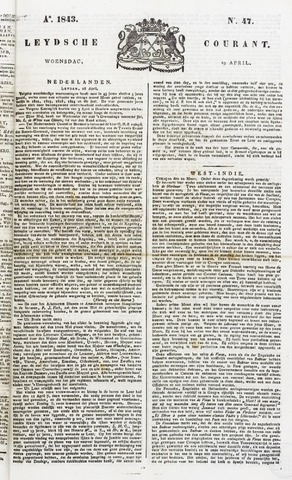 Leydse Courant 1843-04-19