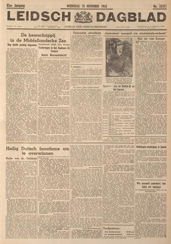 Leidsch Dagblad 1942-11-18