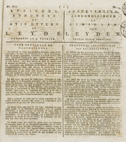 Leydse Courant 1812-02-21