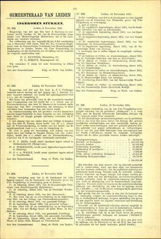 Handelingen van de Raad 1932-11-02
