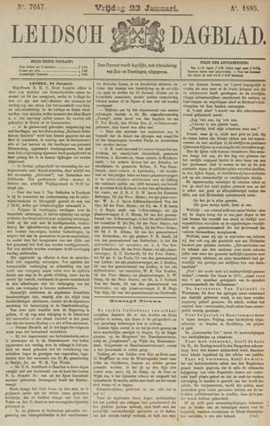 Leidsch Dagblad 1885-01-23