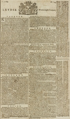 Leydse Courant 1769-11-29