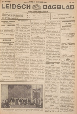 Leidsch Dagblad 1928-11-21