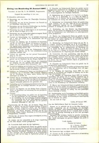 Handelingen van de Raad 1907-01-31