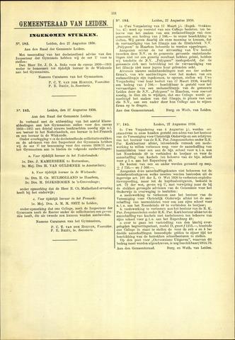 Handelingen van de Raad 1930-08-27
