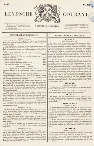 Leydse Courant 1846-08-03