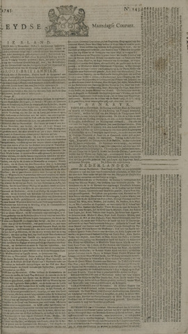 Leydse Courant 1745-11-29