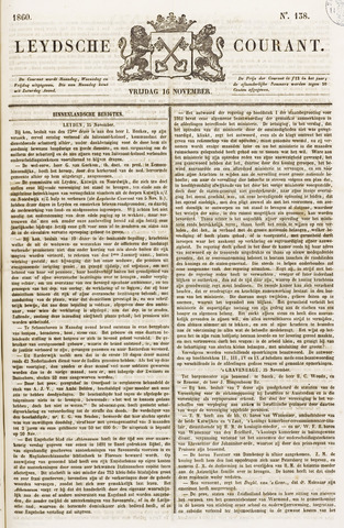 Leydse Courant 1860-11-16