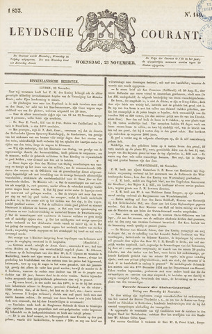 Leydse Courant 1853-11-23