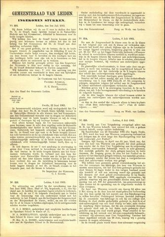 Handelingen van de Raad 1903-07-03