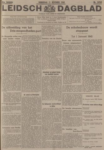Leidsch Dagblad 1940-11-21