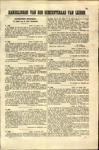 Handelingen van de Raad 1874-10-16