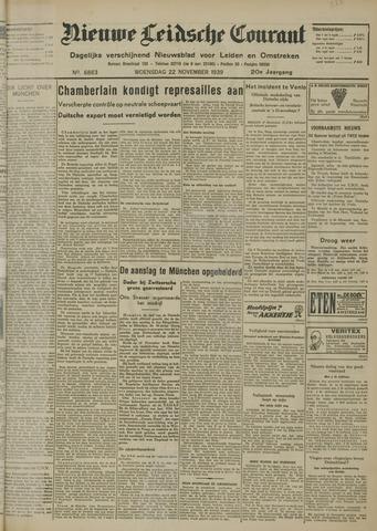 Nieuwe Leidsche Courant 1939-11-22