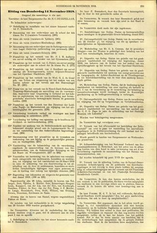 Handelingen van de Raad 1918-11-14