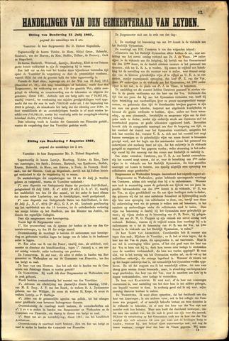 Handelingen van de Raad 1862-07-31