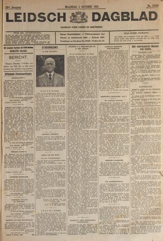Leidsch Dagblad 1933-10-02