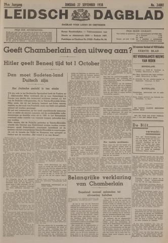 Leidsch Dagblad 1938-09-27