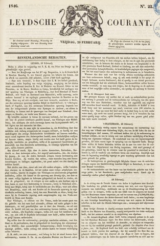 Leydse Courant 1846-02-20