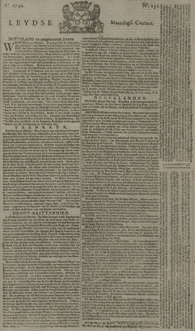 Leydse Courant 1749-11-03
