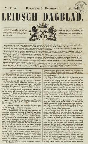 Leidsch Dagblad 1863-12-31