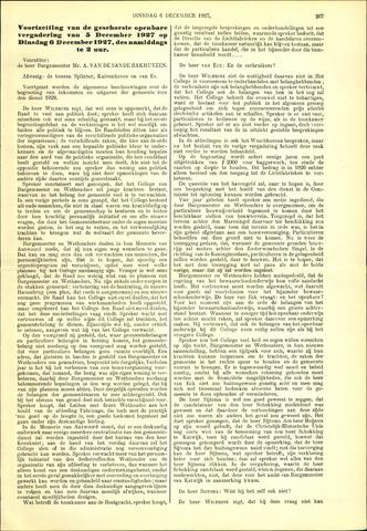 Handelingen van de Raad 1927-12-06