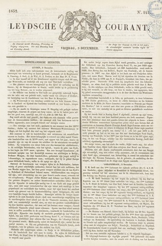 Leydse Courant 1852-12-03