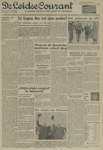 Leidse Courant 1954-01-09