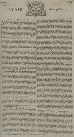 Leydse Courant 1722-11-30