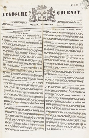 Leydse Courant 1865-11-22