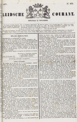 Leydse Courant 1871-11-21