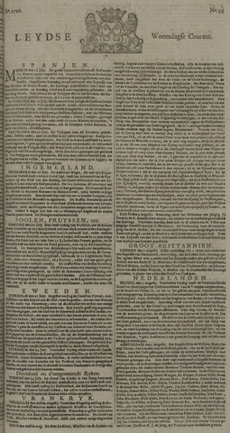 Leydse Courant 1726-08-07