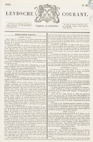 Leydse Courant 1855-08-10