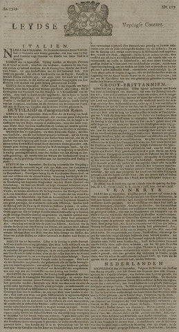 Leydse Courant 1729-09-30